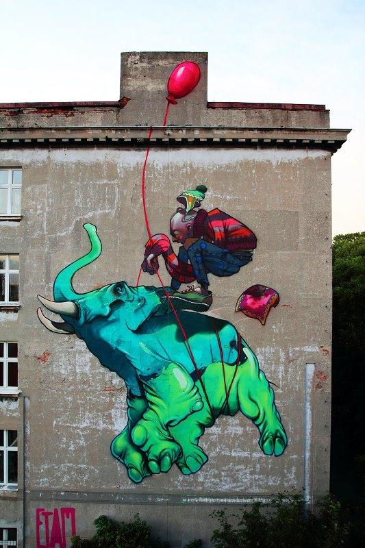 Kota dengan Seni Jalanan Terbaik di Dunia - Seni-Jalanan-Lukisan-Mural-di-Kota-Bethlehem-di-Lodz-di-Polandia-3