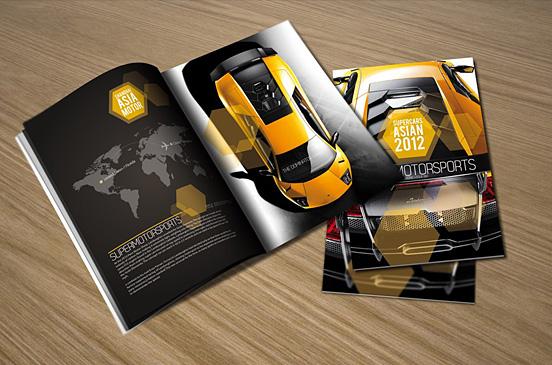Desain Brosur Cantik dan Profesional untuk Promosi - Brosur-Desain-Cantik-dan-Profesional-02 Supercars Asian 2012