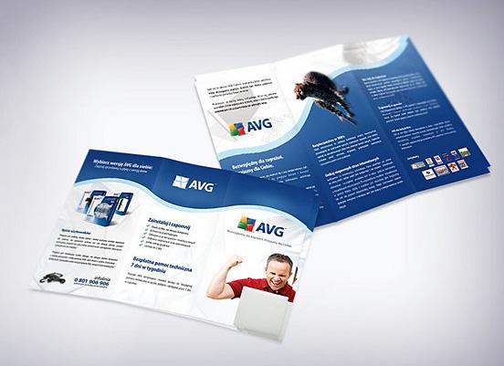 Desain Brosur Cantik dan Profesional untuk Promosi - Brosur-Desain-Cantik-dan-Profesional-24 AVG Anti Virus Brochure