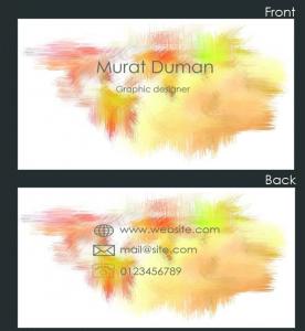 Template Photoshop PSD Kartu Nama Unik Menarik Cantik
