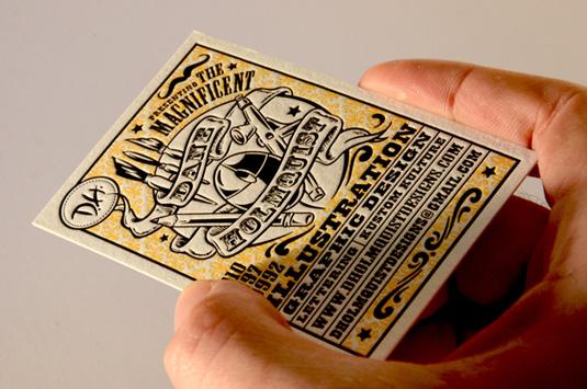Desain Kartu Nama dengan Cetak Letter Press - dh