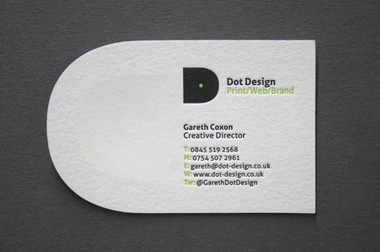 Desain Kartu Nama dengan Cetak Letter Press - dotdesign