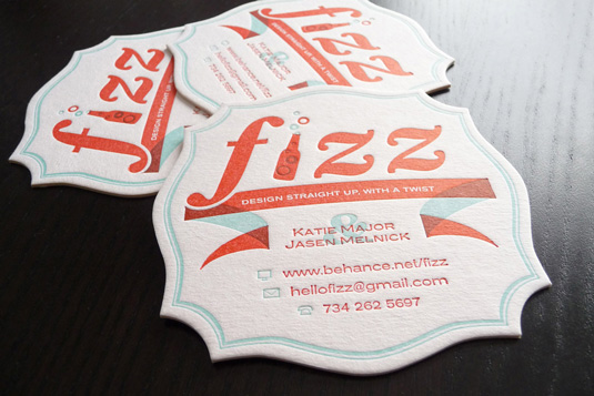 Desain Kartu Nama dengan Cetak Letter Press - fizzcoaster1