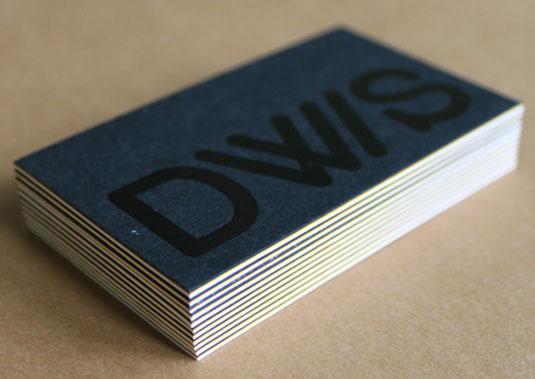 Desain Kartu Nama dengan Cetak Letter Press - foil