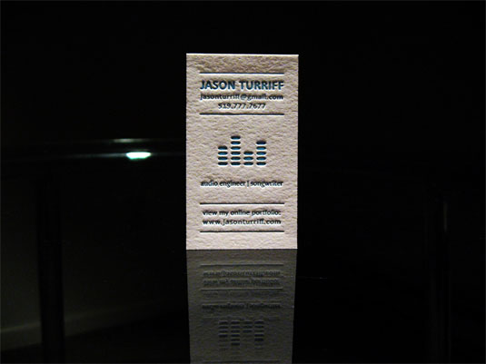Desain Kartu Nama dengan Cetak Letter Press - jasonsound