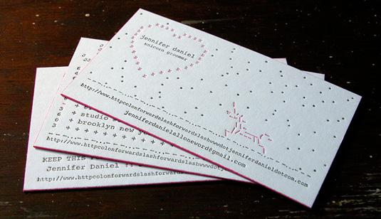 Desain Kartu Nama dengan Cetak Letter Press - jennifer_daniel