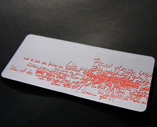 Desain Kartu Nama dengan Cetak Letter Press - orangeletter