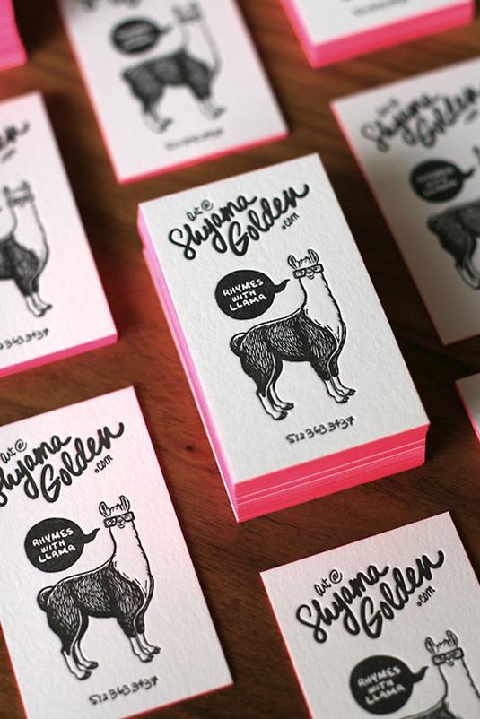 Desain Kartu Nama dengan Cetak Letter Press - shyama