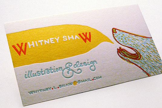 Desain Kartu Nama dengan Cetak Letter Press - whitneyshaw