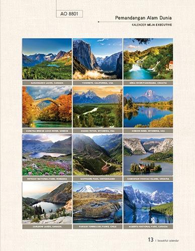 Download Katalog Kalender AO - AO 8801 Kalender Meja Eksekutiv Pemandangan Alam Dunia Katalog Kalender AO 2014 hal-013