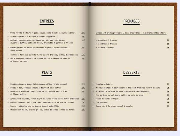 42 desain menu restoran yang akan menginspirasi for Artistic cuisine menu