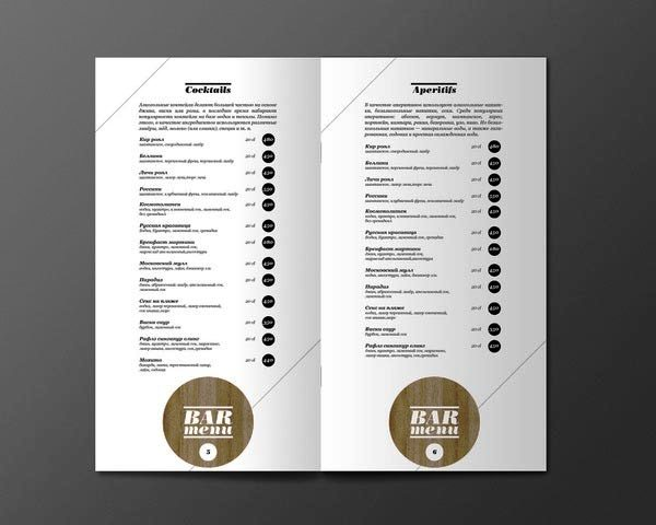 desain menu restoran yang akan menginspirasi media