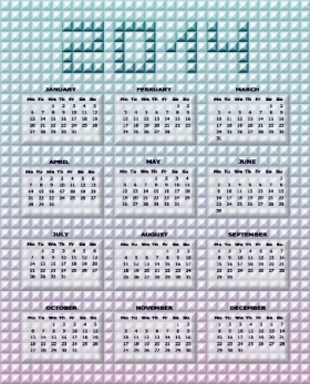 Free Download 23 Calendar 2014, Designed in Vector Format, Eps, AI, Pdf-11
