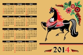 Free Download 23 Calendar 2014, Designed in Vector Format, Eps, AI, Pdf-12