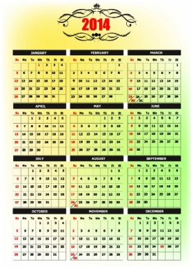 Free Download 23 Calendar 2014, Designed in Vector Format, Eps, AI, Pdf-14