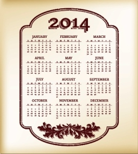 Free Download 23 Calendar 2014, Designed in Vector Format, Eps, AI, Pdf-16