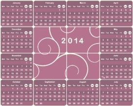 Free Download 23 Calendar 2014, Designed in Vector Format, Eps, AI, Pdf-18