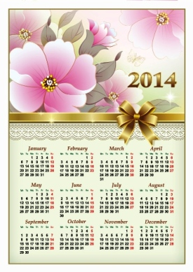 Free Download 23 Calendar 2014, Designed in Vector Format, Eps, AI, Pdf-19
