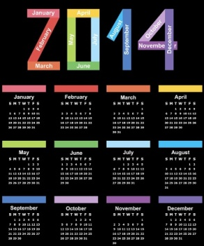 Free Download 23 Calendar 2014, Designed in Vector Format, Eps, AI, Pdf-2