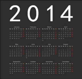 Free Download 23 Calendar 2014, Designed in Vector Format, Eps, AI, Pdf-21