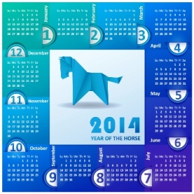 Download 23 Calendar 2014, Designed in Vector Format, Eps, AI, Pdf-23