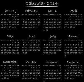 Free Download 23 Calendar 2014, Designed in Vector Format, Eps, AI, Pdf-3