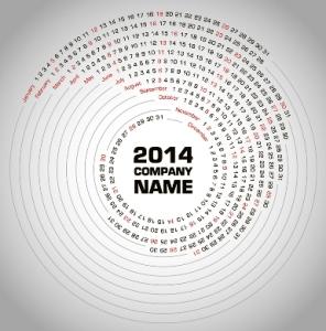 Free Download 23 Calendar 2014, Designed in Vector Format, Eps, AI, Pdf-4