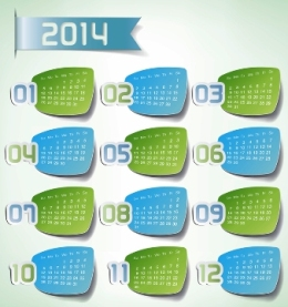 Free Download 23 Calendar 2014, Designed in Vector Format, Eps, AI, Pdf-5