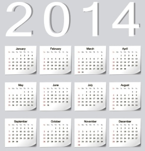 Free Download 23 Calendar 2014, Designed in Vector Format, Eps, AI, Pdf-6