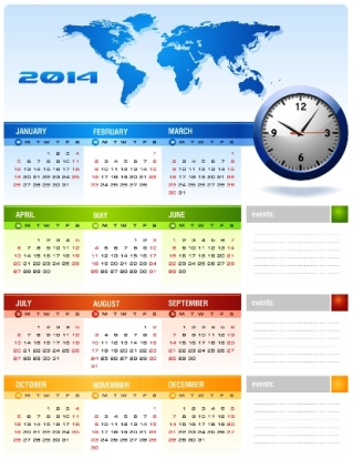 Free Download 23 Calendar 2014, Designed in Vector Format, Eps, AI, Pdf-7