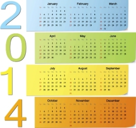 Free Download 23 Calendar 2014, Designed in Vector Format, Eps, AI, Pdf-8