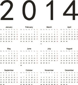 Free Download 23 Calendar 2014, Designed in Vector Format, Eps, AI, Pdf-9