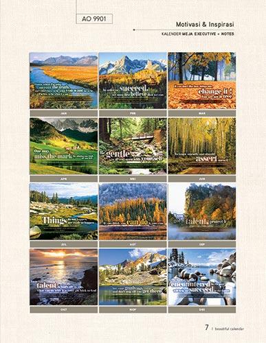 Download Katalog Kalender AO - Katalog Kalender AO 2014 hal-007 AO9901 Kalender Motivasi dan Inspirasi Kalender meja eksekutiv + notes