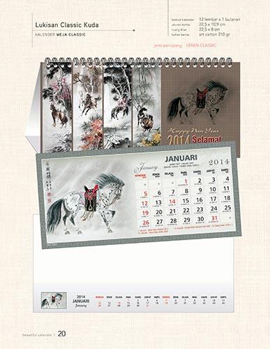 Download Katalog Kalender AO - Lukisan Klassik Kuda Kalender Meja Klasik Katalog Kalender AO 2014 hal-020