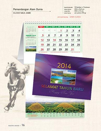 Download Katalog Kalender AO - Pemandangan Alam Dunia Kalender Meja Jumbo Katalog Kalender AO 2014 hal-016