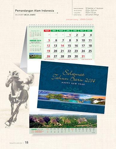 Download Katalog Kalender AO - Pemandangan Alam Indonesia Katalog Kalender AO 2014 hal-018
