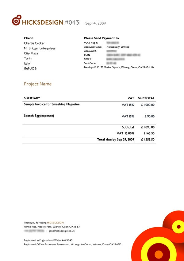 Contoh Faktur Invoice Tagihan - Contoh Desain Invoice Faktur Tagihan 06