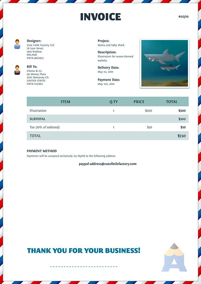 Contoh Invoice Tagihan Proyek Pictures