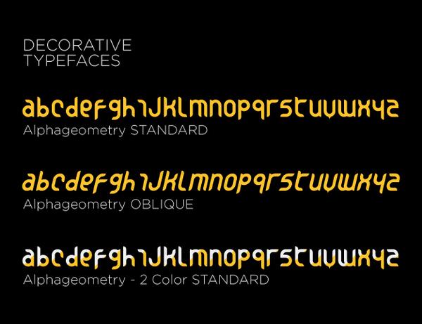 Alphageometry Font