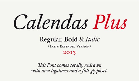 Download 100 Font Gratis untuk Desain Grafis dan Web - Calendas Plus Free Font