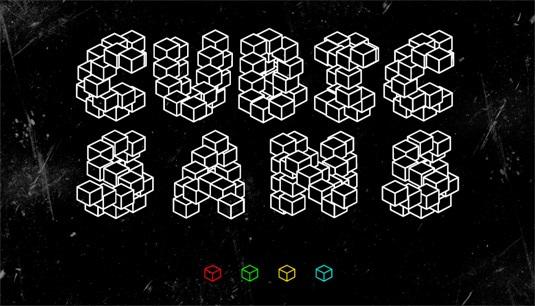Download 100 Font Gratis untuk Desain Grafis dan Web - Cubic Sans Free Font