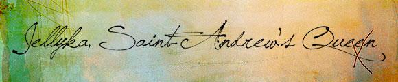 Font Kaligrafi Terbaik - Font Kaligrafi Jellyka, Saint-Andrew's Queen