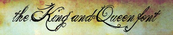 Font Kaligrafi Terbaik - Font Kaligrafi the King & Queen font