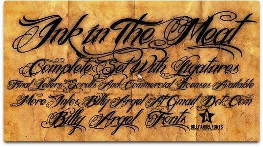 Download 100 Font Gratis untuk Desain Grafis dan Web - Ink In The Meat Free Font