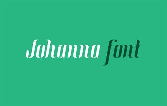 Download 100 Font Gratis untuk Desain Grafis dan Web - Johanna Free Font