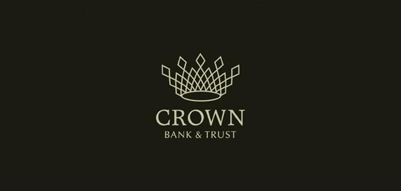 Contoh Desain Logo Institusi Keuangan - Logo Keuangan Crown