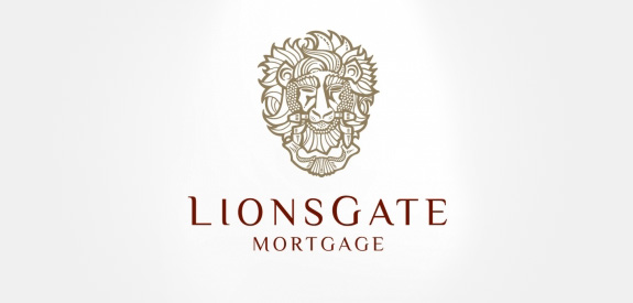 Contoh Desain Logo Institusi Keuangan - Logo Keuangan Lionsgate