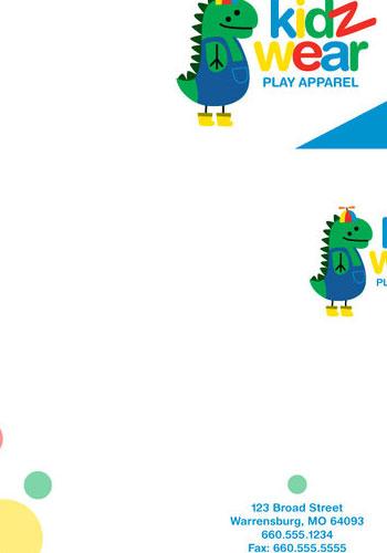 Contoh Desain Logo pada Kop Surat - Logo-Kop-Surat-KidzWear-Letterhead