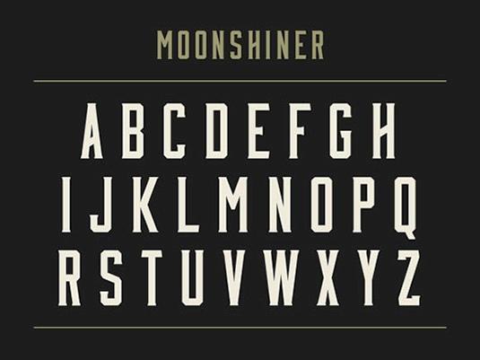 Download 100 Font Gratis untuk Desain Grafis dan Web - Moonshiner Free Font