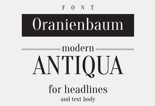 Download Free Font Gratis for Graphic Design and Web - Oranienbaum-Free-Font